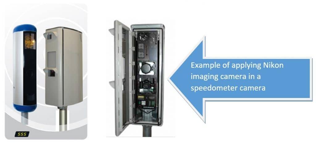 applying Nikon imaging camera in a speedometer camera